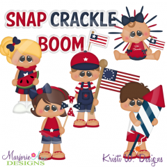 All American Kids SVG Cutting Files Includes Clipart