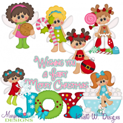 Fairy Christmas SVG Cutting Files Includes Clipart