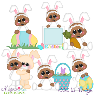 Ginger Loves Easter SVG Cutting Files + Clipart