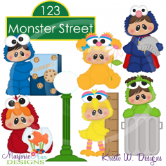 Monster Street SVG Cutting Files Includes Clipart