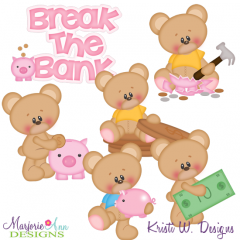 Break The Bank SVG Cutting Files Includes Clipart