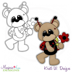 Love Bug Bear & Flower Exclusive Digital Stamp + Clipart