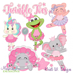 Twinkle Toes SVG Cutting Files Includes Clipart