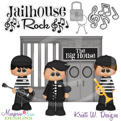 Jailhouse Rock SVG Cutting Files Includes Clipart
