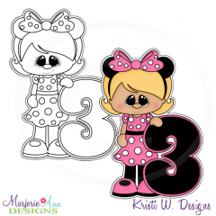 A Very Minnie 3rd Birthday Exclusive Digital Stamp + Clipart