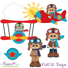 When I Grow Up~Aviator Two Cutting Files-Includes Clipart