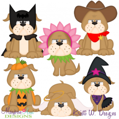 A Bulldog Halloween SVG Cutting Files + Clipart