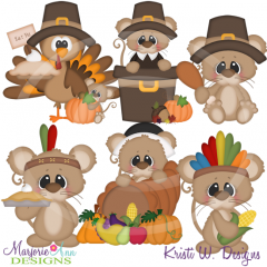 Thankful Squeaks SVG Cutting Files Includes Clipart