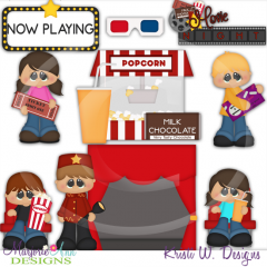 Movie Night SVG Cutting Files Includes Clipart