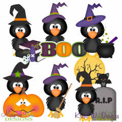 Halloween Crows SVG Cutting Files Includes Clipart
