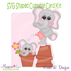 If Friends Were Flowers I'd Pick You~Shaped SVG/MTC Card Kit