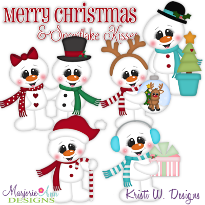 Snowy Christmas SVG Cutting Files Includes Clipart