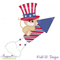 4th Of July Mouse SVG Cutting Files + Clipart