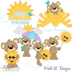 You Are My Sunshine Exclusive SVG Cutting Files + Clipart