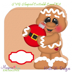 Ginger & Ornament~Shaped SVG/MTC Card Kit/Cutting File