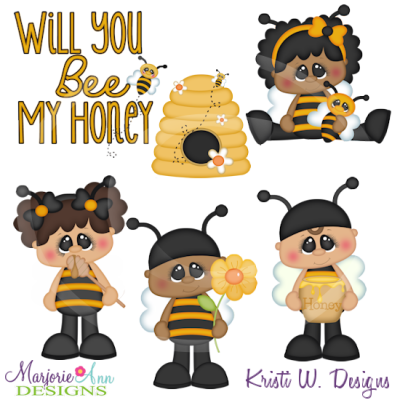 Will You Be My Honey Cutting Files Includes Clipart
