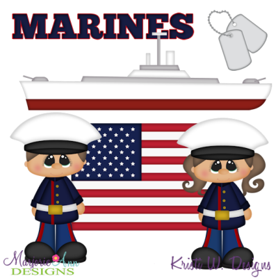 Marines SVG Cutting Files + Clipart