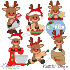 Sweets For Santa-Reindeer SVG Cutting Files Includes Clipart