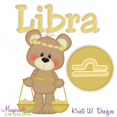 Zodiac Friends~Libra SVG Cutting Files + Clipart