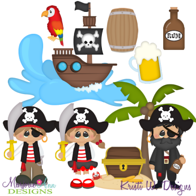 A Pirates Adventure SVG Cutting Files Includes Clipart