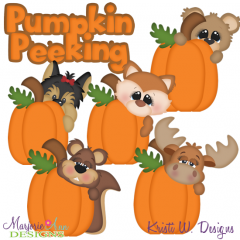 Pumpkin Peekers SVG Cutting Files Includes Clipart