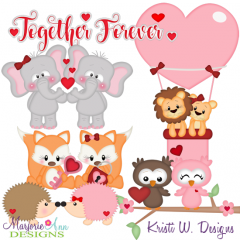 Together Forever SVG Cutting Files Includes Clipart