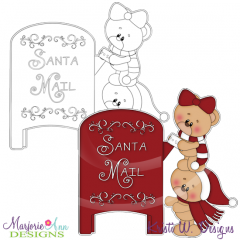 Santa Mail Digital Stamp + Clipart