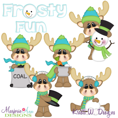 Frosty Fun SVG Cutting Files Includes Clipart