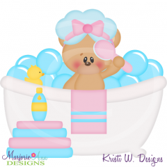 Squeaky Clean-Bear Cutting Files-Includes Clipart