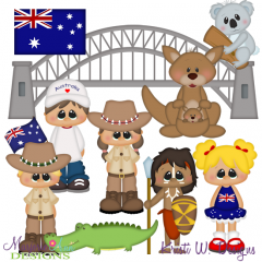 Kids Around The World-Austrailia SVG Cutting Files + Clipart