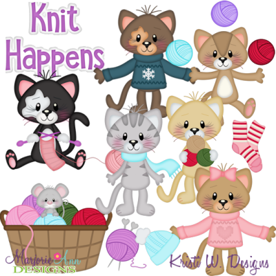 Knit Happens SVG Cutting Files Includes Clipart