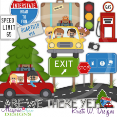 Road Trip SVG Cutting Files Includes Clipart
