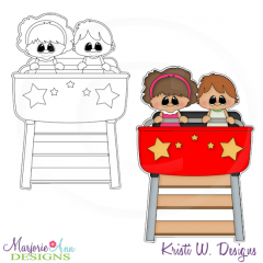 Coaster Ride Digital Stamp + Clipart