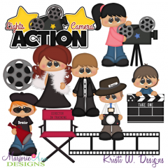 Hollywood Kids SVG Cutting Files + Clipart