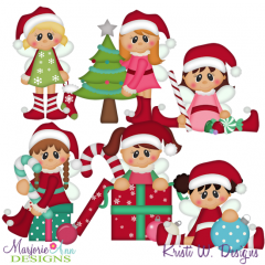 Merry & Bright Fairies SVG Cutting Files Includes Clipart