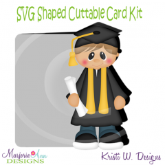 Grad Boy~Shaped SVG/MTC Card Kit/Cutting File