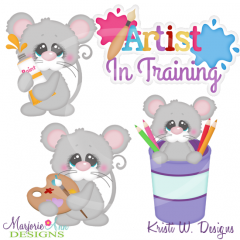 Artist In Training Cutting Files-Includes Clipart