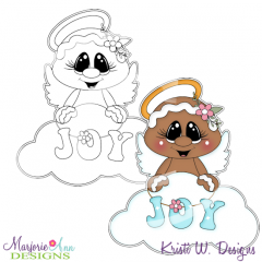 Sugar Angel 1 Exclusive Digital Stamp + Clipart