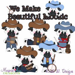 We Make Beautiful Moosic SVG Cutting Files Includes Clipart