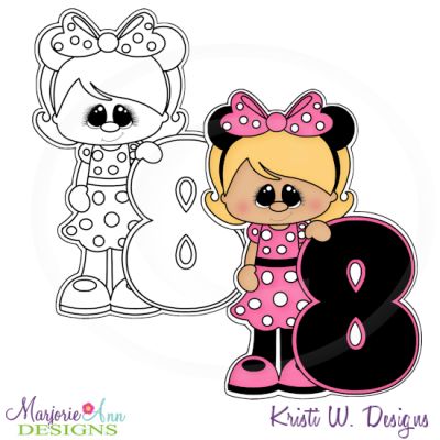 A Very Minnie 8th Birthday Exclusive Digital Stamp + Clipart