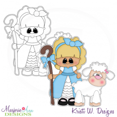 Little Bo Peep Digital Stamp + Clipart