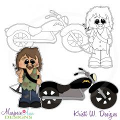 The Walking Cute-Set 1 Exclusive Digital Stamps + Clipart