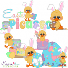 Easter Picasso SVG Cutting Files + Clipart