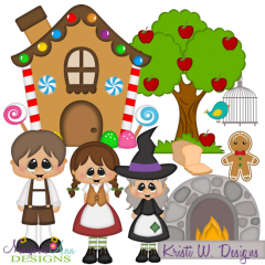 Hansel and Gretel SVG Cutting Files Includes Clipart