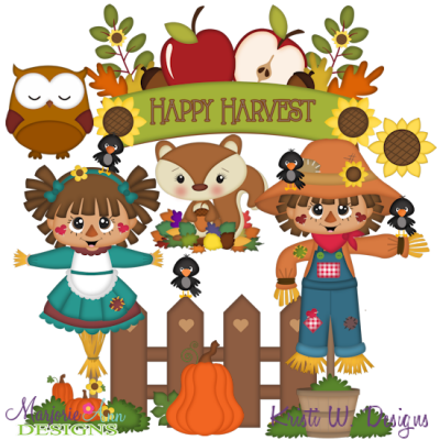 happy Harvest SVG Cutting Files Includes Clipart