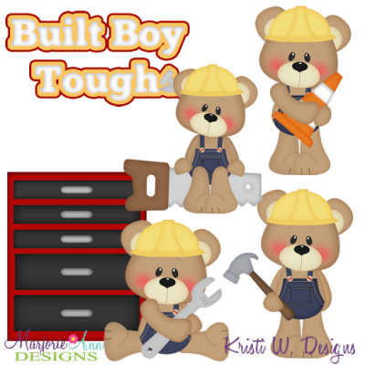 Built Boy Tough Exclusive SVG Cutting Files + Clipart