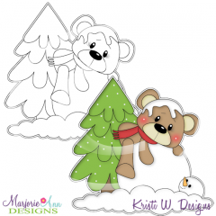 Winter Friends Digital Stamp + Clipart