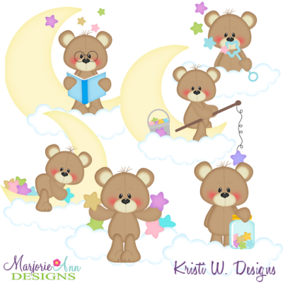 Stardust & Moonbeams SVG Cutting Files + Clipart