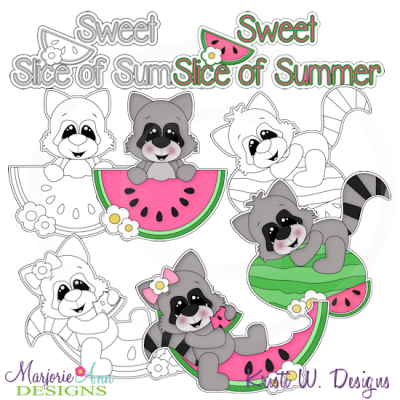 Sweet Slice Of Summer Exclusive Digital Stamps + Clipart