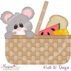 Summer Picnic Mouse SVG Cutting Files Includes Clipart